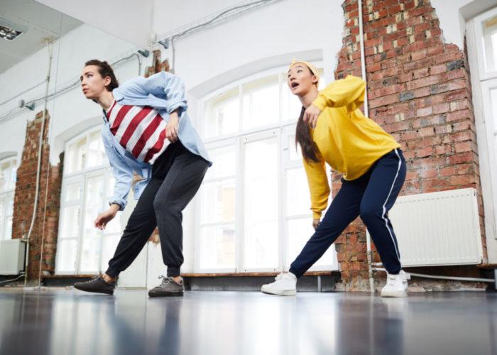 Dancing in studio